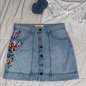 PacSun Buttoned Denim Skirt